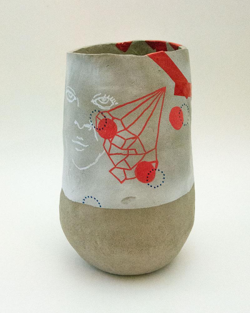 Vase Taped