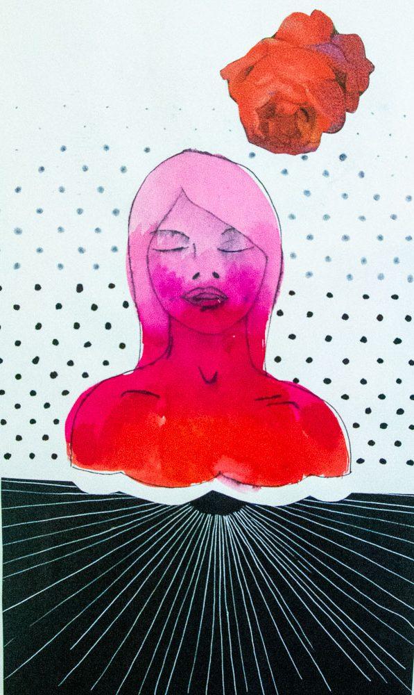 Meditative rose II